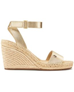 Bima Metallic Wedge Espadrille Sandal