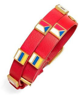 Double-wrap Sail Flag Bracelet