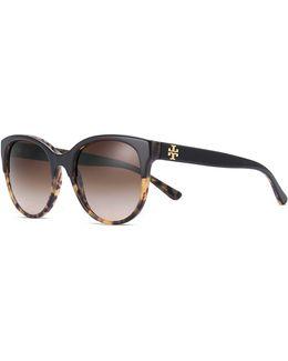 Double-t Cat-eye Sunglasses