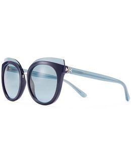 Mixed-materials Panama Sunglasses