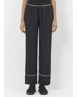 Black Contrast Piping Trouser