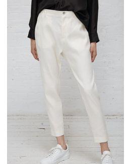 White Krissy Trouser