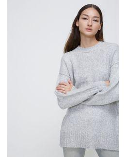 Heather Grey Oversized Crewneck Sweater