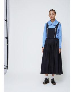 Black Zip Front Overall Dress