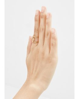 Gold/diamonds Lyra Ring
