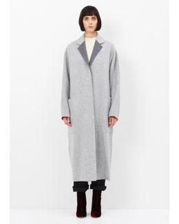 Grey Melange Amery Double Coat