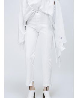 White Classical Reworked Denim