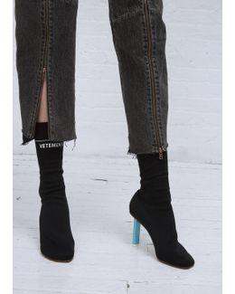 Black/blue (heel) Socks Ankle Boots