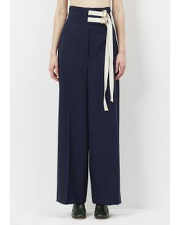 Lily White Contrast Drawstring Trouser