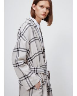 Plaid Brushed Cotton Long Length Robe