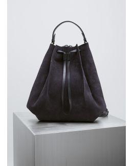 Dark Blue Nabuk Backpack
