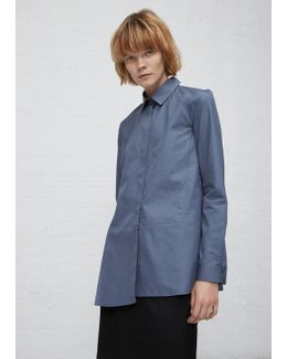 Blue Diana Covered Placket Button Down