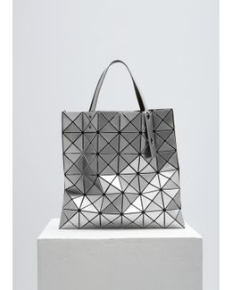Silver Lucent Shiny Small Tote