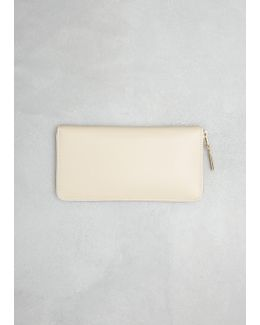 Off White Classic Leather Line Large Zip Around Wallet