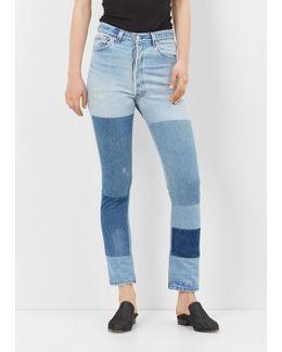 Denim High Rise Denim Patch Jean