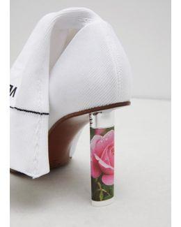 White/ Roses (heel) Socks Ankle Boots