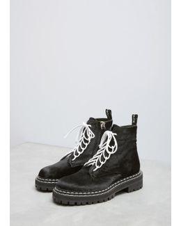 Black Pony Ankle Boot
