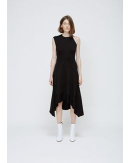 Black One Sleeve Asymmetrical Dress