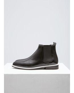 Black Patent Chelsea Boot