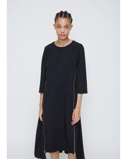 Black Elbow Sleeve Dress