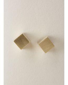 Brass Eclipse Earrings