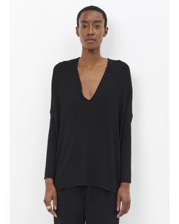 Black Long Sleeve Koya Top