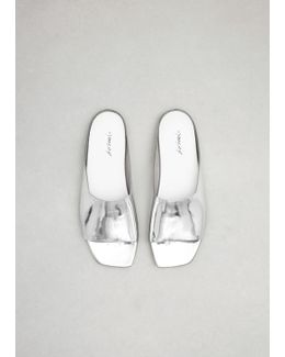 Silver Metallic Quadro Sandal
