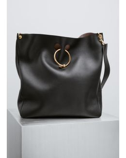 Black Large Hobo Pierce Bag
