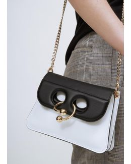White / Black Mini Pierce Bag