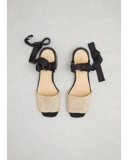 Raffia Fabric Canna Sandal