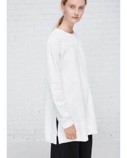 Off White Brushed Basic Sweatshirt