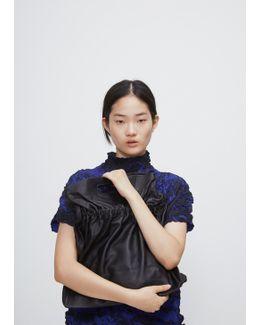 Black Leather State Bag
