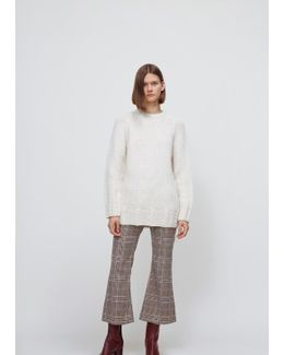 White Hand Knit Crewneck