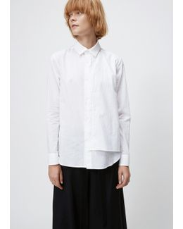 White Layered Front Button Down