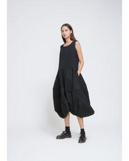 Black Wool Barathea Bonded Dress