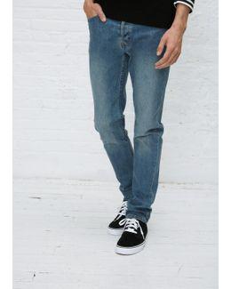 Indigo Delave Petit New Standard Washed Stretch Jean