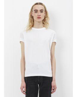 White Cotton Jersey Top