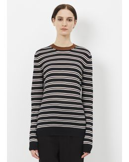 Black Long Sleeve Striped Sweater