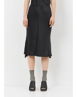 Onyx Bias Slip Skirt