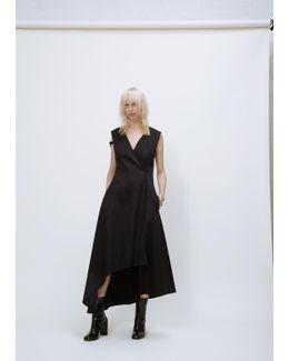 Black Asymmetric Cross Over Dress