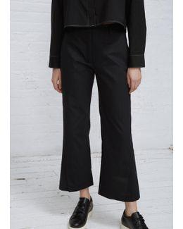 Black High Trouser