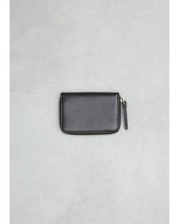 Black Small Zip Around Wallet