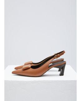 Marron Sling Back Shoe