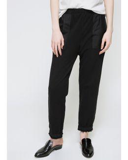 Black Silk Pocket Sweatpant