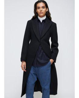 Black Pleats Long Coat