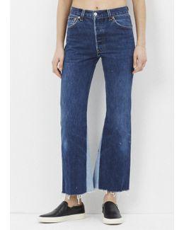 Denim Leandra High Rise Flare Crop Jean