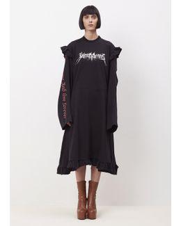 Black + Print 70's Dress Print