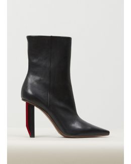 Black/red Heel Reflector Heel Ankle Boots