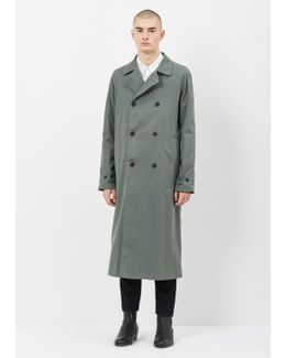 Medium Green Marseille Trench Coat