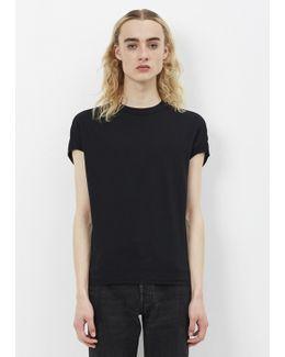 Black Cotton Jersey Top